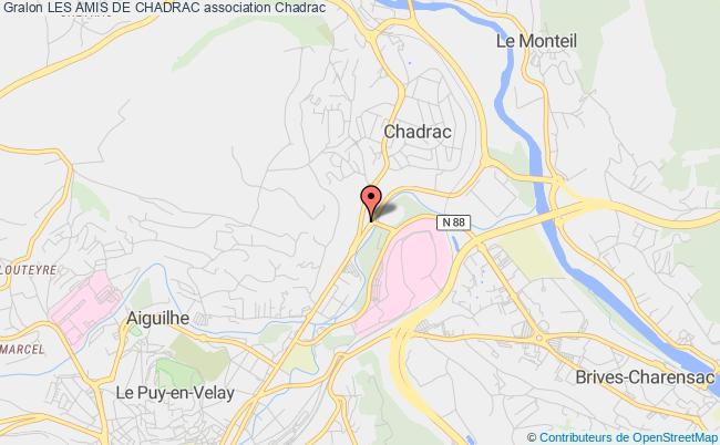 plan association Les Amis De Chadrac Chadrac