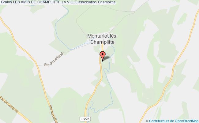 plan association Les Amis De Champlitte La Ville