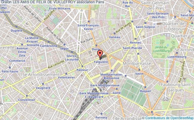 plan association Les Amis De Felix De Vuillefroy Paris