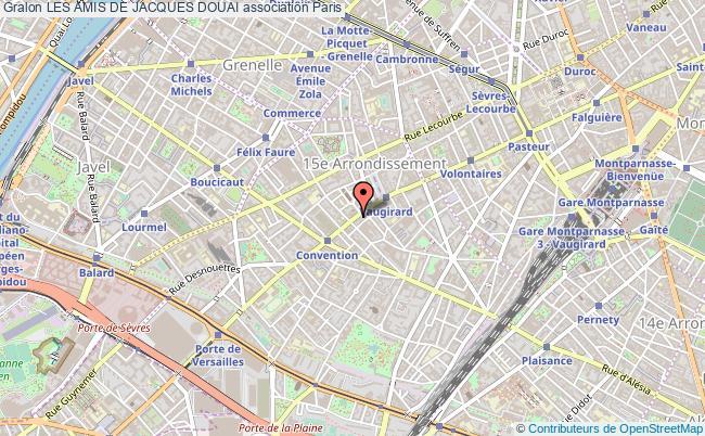plan association Les Amis De Jacques Douai Paris