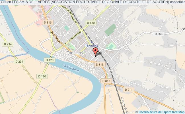 plan association Les Amis De L' Apres (association Protestante Regionale D'ecoute Et De Soutien)