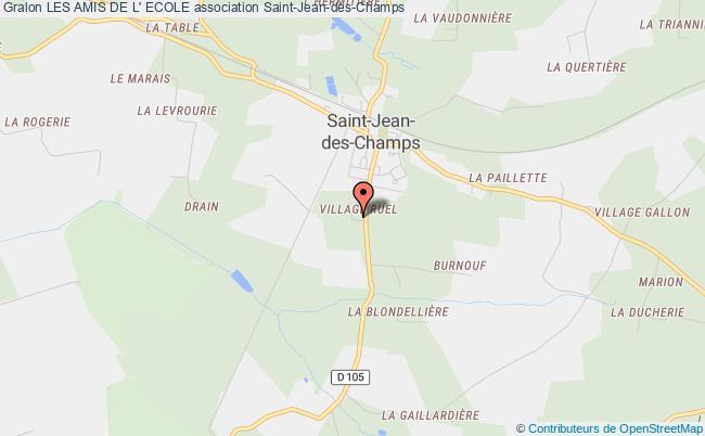 plan association Les Amis De L' Ecole Saint-Jean-des-Champs