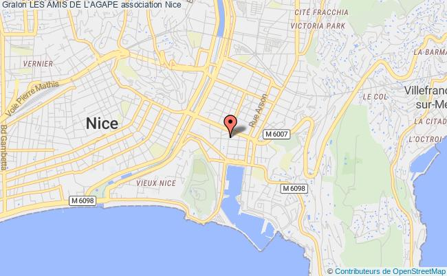 plan association Les Amis De L'agape Nice