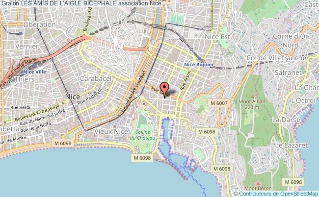 plan association Les Amis De L'aigle Bicephale Nice