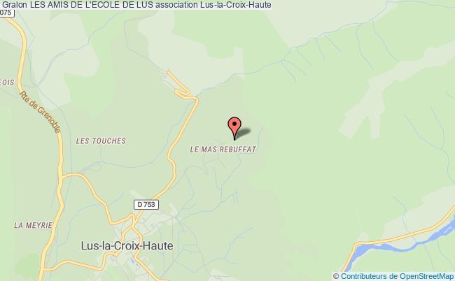 plan association Les Amis De L'ecole De Lus Lus-la-Croix-Haute