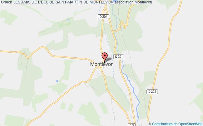 plan association Les Amis De L'eglise Saint-martin De Montlevon