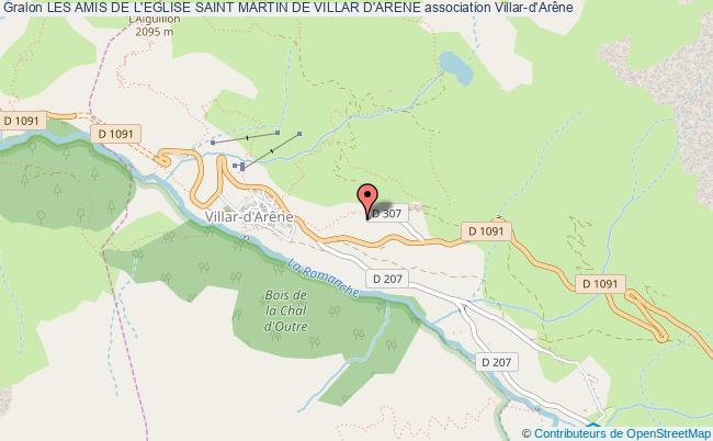 plan association Les Amis De L'eglise Saint Martin De Villar D'arene Villar-d'Arêne