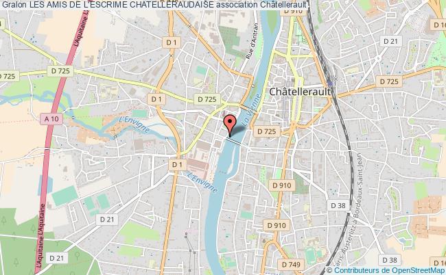 plan association Les Amis De L'escrime Chatelleraudaise