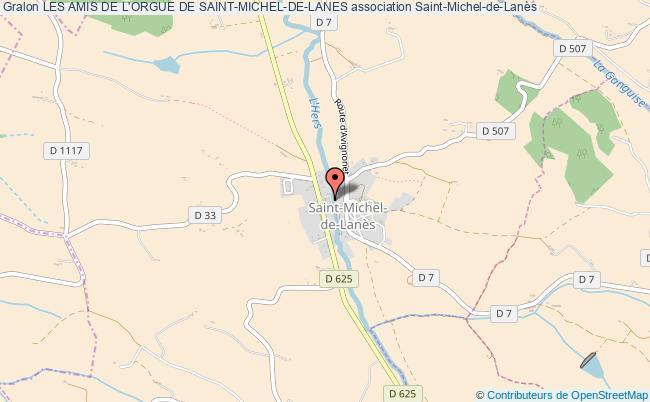 plan association Les Amis De L'orgue De Saint-michel-de-lanes Saint-Michel-de-Lanès