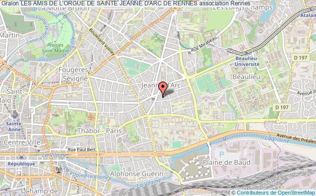 plan association Les Amis De L'orgue De Sainte Jeanne D'arc De Rennes Rennes