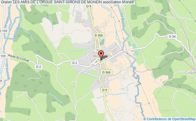 plan association Les Amis De L'orgue Saint-girons De Monein