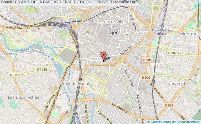 plan association Les Amis De La Base Aerienne De Dijon Longvic