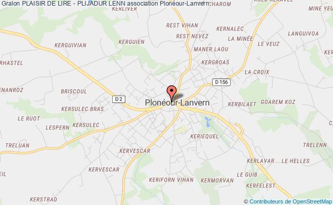 plan association Les Amis De La Bibliotheque De Ploneour-lanvern