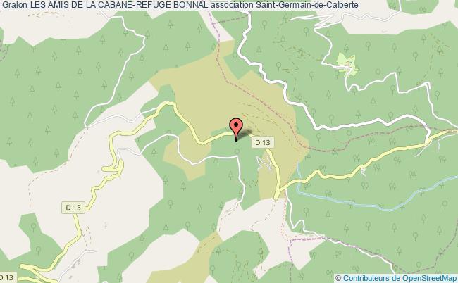 plan association Les Amis De La Cabane-refuge Bonnal