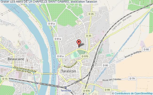 plan association Les Amis De La Chapelle Saint Gabriel Tarascon