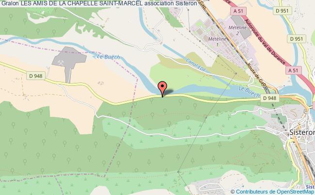 plan association Les Amis De La Chapelle Saint-marcel