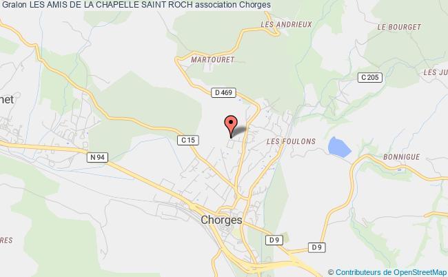 plan association Les Amis De La Chapelle Saint Roch