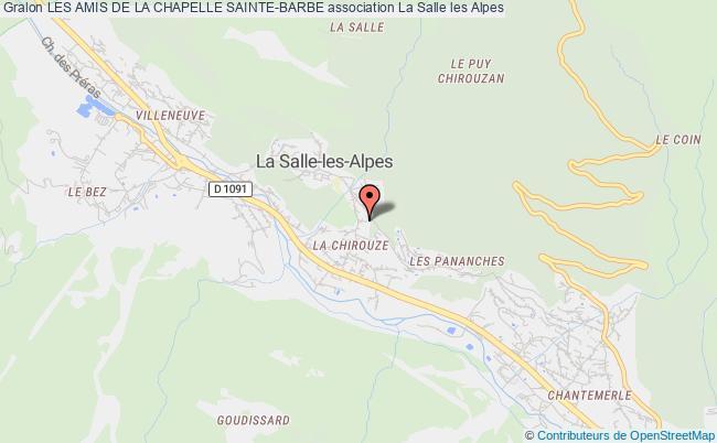 plan association Les Amis De La Chapelle Sainte-barbe La Salle les Alpes