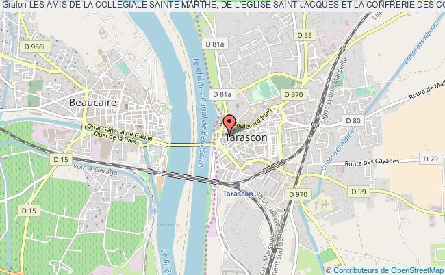 plan association Les Amis De La Collegiale Sainte Marthe, De L'eglise Saint Jacques Et La Confrerie Des Consorelles De Sainte Marthe