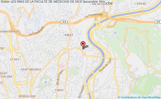 plan association Les Amis De La Faculte De Medecine De Nice Nice