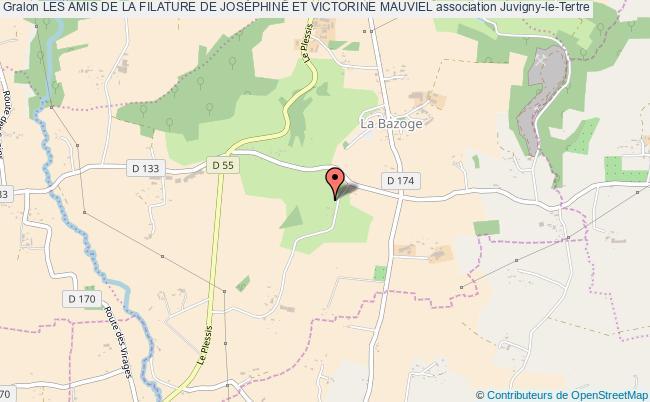 plan association Les Amis De La Filature De JosÉphine Et Victorine Mauviel Juvigny-le-Tertre