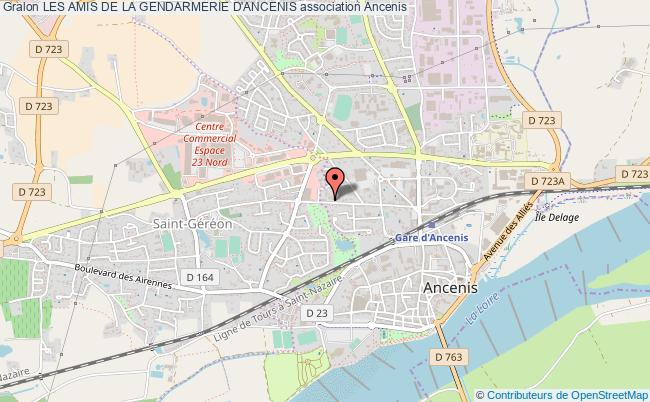 plan association Les Amis De La Gendarmerie D'ancenis