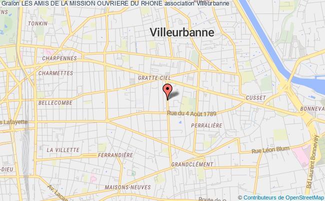 plan association Les Amis De La Mission Ouvriere Du Rhone
