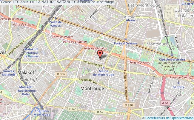 plan association Les Amis De La Nature Vacances Montrouge