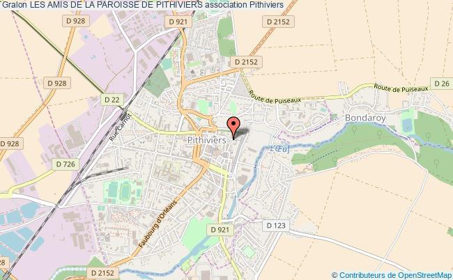plan association Les Amis De La Paroisse De Pithiviers