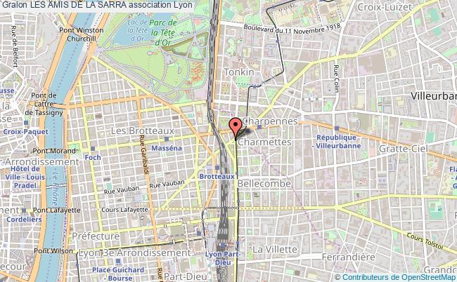 plan association Les Amis De La Sarra Lyon