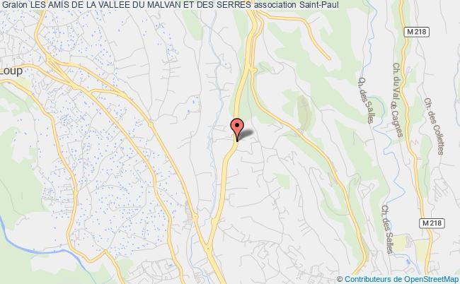 plan association Les Amis De La Vallee Du Malvan Et Des Serres