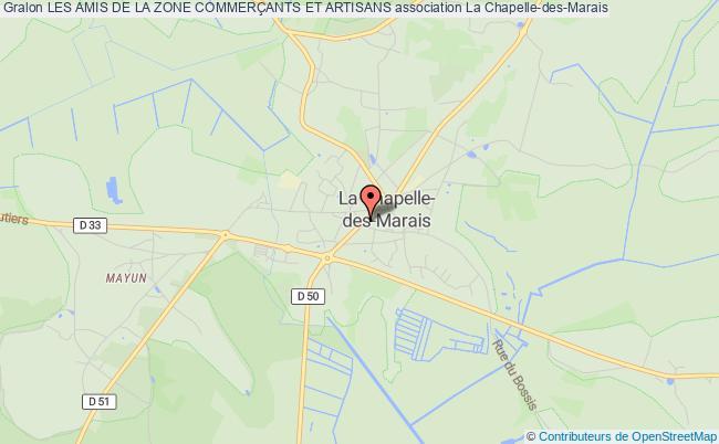plan association Les Amis De La Zone CommerÇants Et Artisans La Chapelle-des-Marais