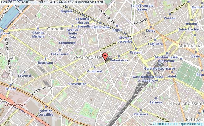 plan association Les Amis De Nicolas Sarkozy Paris