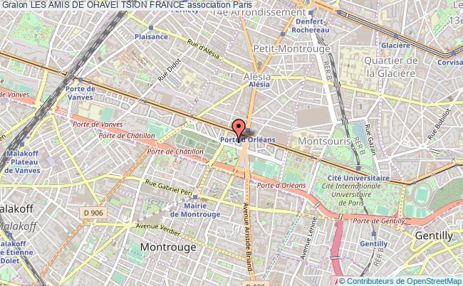 plan association Les Amis De Ohavei Tsion France Paris