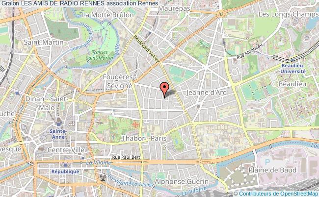 plan association Les Amis De Radio Rennes