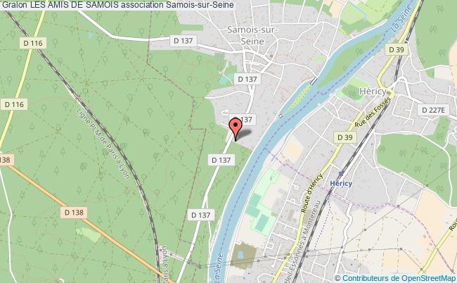 plan association Les Amis De Samois Samois-sur-Seine