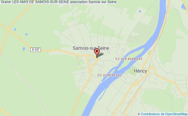 plan association Les Amis De Samois-sur-seine Samois-sur-Seine