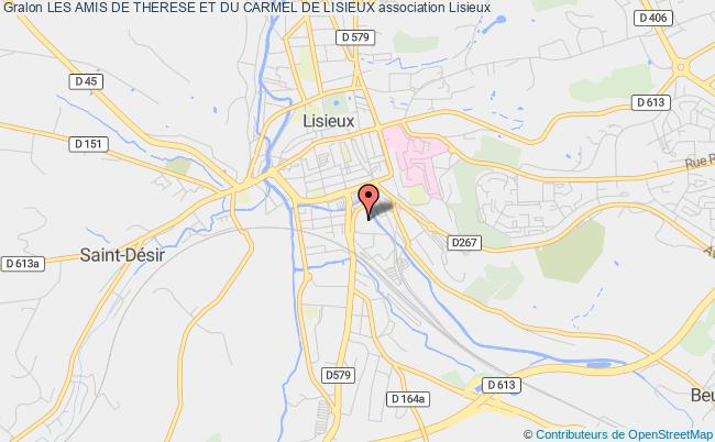 plan association Les Amis De Therese Et Du Carmel De Lisieux