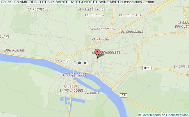 plan association Les Amis Des Coteaux Sainte-radegonde Et Saint-martin Chinon