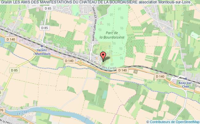 plan association Les Amis Des Manifestations Du Chateau De La Bourdaisiere