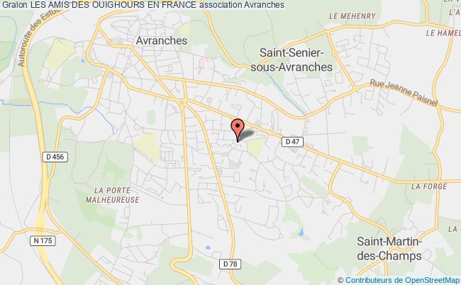 plan association Les Amis Des Ouighours En France