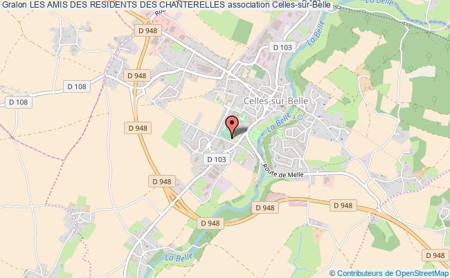 plan association Les Amis Des Residents Des Chanterelles