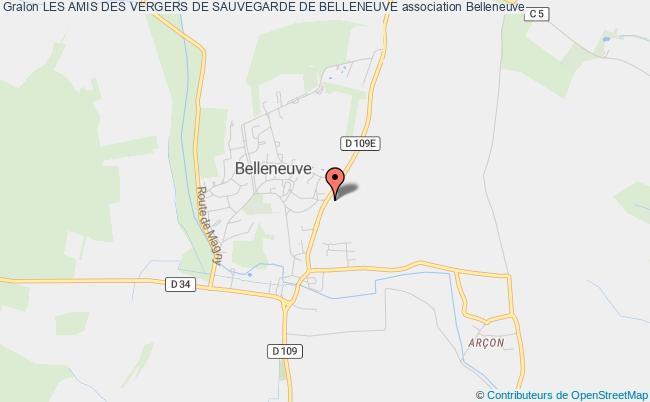 plan association Les Amis Des Vergers De Sauvegarde De Belleneuve