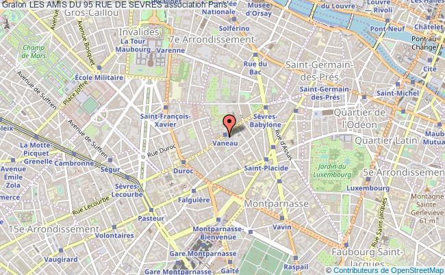 plan association Les Amis Du 95 Rue De Sevres