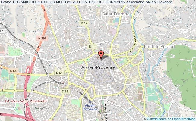 plan association Les Amis Du Bonheur Musical Au ChÂteau De Lourmarin