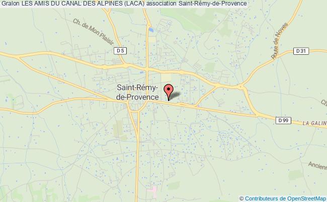 plan association Les Amis Du Canal Des Alpines (laca)
