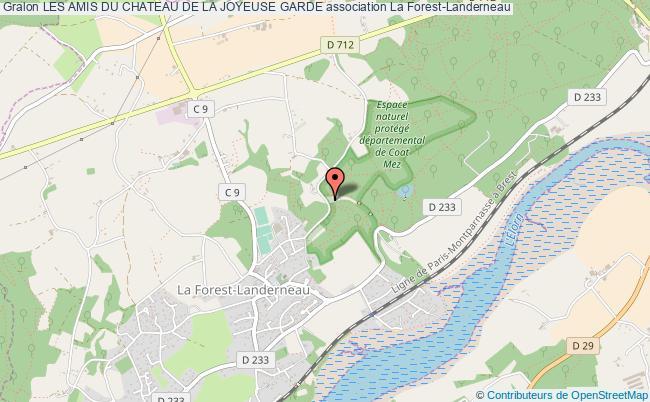 plan association Les Amis Du Chateau De La Joyeuse Garde