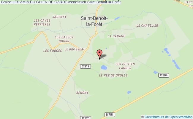 plan association Les Amis Du Chien De Garde Saint-Benoît-la-Forêt