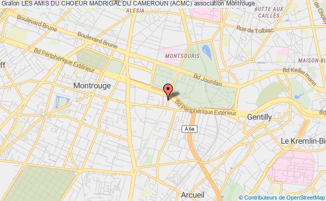 plan association Les Amis Du Choeur Madrigal Du Cameroun (acmc) Montrouge