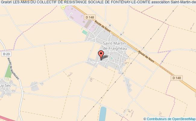 plan association Les Amis Du Collectif De Resistance Sociale De Fontenay-le-comte Saint-Martin-de-Fraigneau